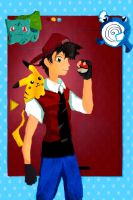 Pokemon Adventures Fan Art Cover by Kittyskittles