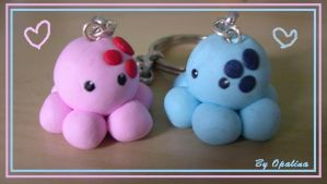 Lovers octopus fimo by opalina59
