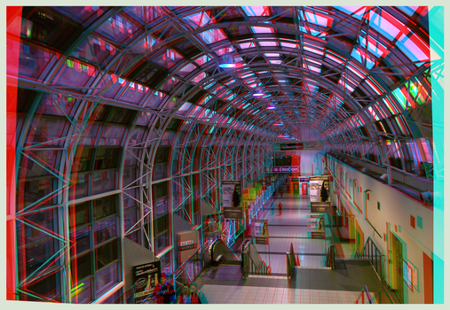 Skywalk Toronto 3-D : HDR/Raw Anaglyph Stereoscopy by zour