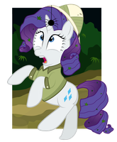 MLP: Rarity in the Jungle by giantsquidie