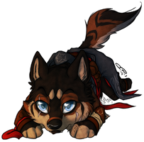 .:The Chibi Bored Wolf:. by Mayasacha