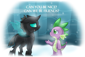 [FanArt] Can We Be Friend? by vavacung