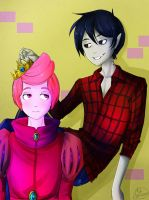 Adventure time - Prince Gumball and Marshall Lee by MelSpontaneus