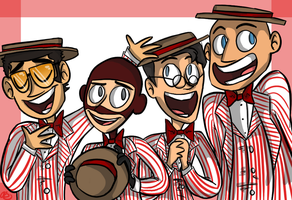 barbershop quartet by loneyqua