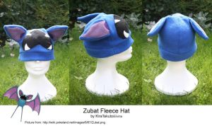 Zubat Fleece Hat by KiraTakuto