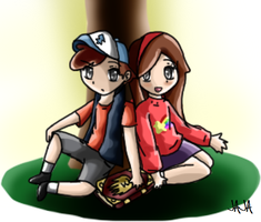 Gravity Falls: Dipper And Mabel by ariannejae