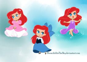 Chibi Ariel 2 by MoonchildinTheSky