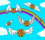 Flying Cookies of Love by Mechanical-Dragon