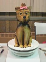 Yorkie Dog Cake by CAGnj