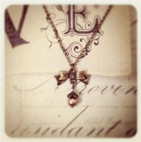 Victorian Bow Necklace by MegamiMoon