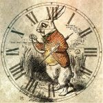The White Rabbit Clock by TeapotMysteries