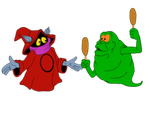 Orco and Slimer -Flats by Ravyn-Karasu