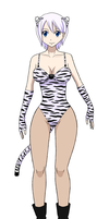 White Tiger girl Lisanna by fralie