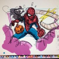 Spidey Print WIP by eugenecommodore