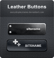 Leather Buttons by easydisplayname