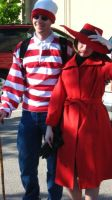 Carmen Sandiego and Waldo by KittyCanuck