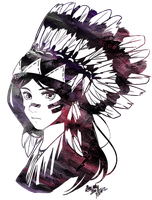 Sioux Headdress by mewDoubled