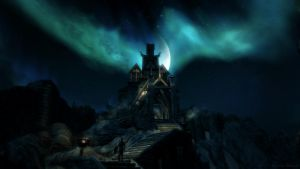 Blue Moon over Dragonsreach by Solace-Grace