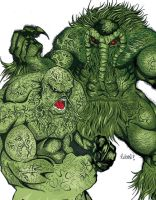 Man Thing vs Swamp Thing Finis by roberuniverse