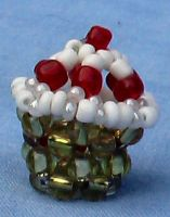 Beaded Cupcake by Craftcove