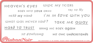 Love Phrases - Photoshop Brush by Lady-Himiko