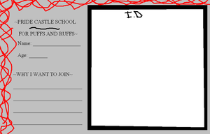 Pride Castle School ID form by ppgblossom678