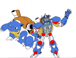 Pokemon Wars Optimus Primal by Tiger-Prime