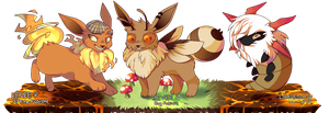 :PKMNation: Fusion Eevees (CLOSED) by Panooks