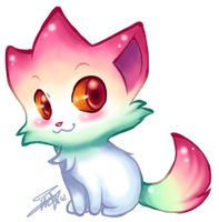Aurora Kitten Star Chibi by Pink-Angel-Kitty