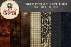 Edgar Allan Poe Papers by Whimsical-Adventure