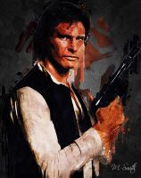 Han Solo Acrylic By Mike Smith by mikesmithimages