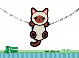 Hanging Kitty Necklace by Strange-1