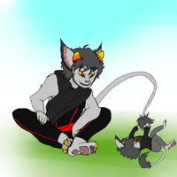 Petstuck Signless and Karkat by CheshirePounce