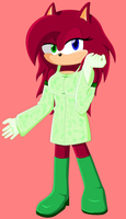 Scarlet the hedgehog: Colored by EchaoEmerald