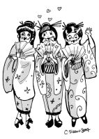 Mikado Three Little Maids by BlueBirdie