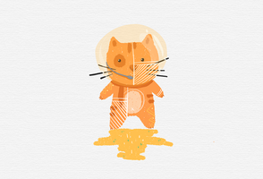 Astronaut the Cat by Wie-e