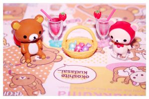 Rilakkuma re-ment Set by bhere