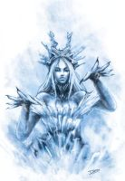 Ice witch speed paint by dinotiste