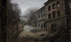 Bombed Buildings by thegryph