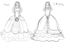 Vestidos De Novia Anguie Y Cherry by CartoonCoby