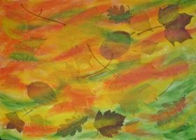 Fall leaves by Meralia