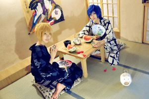 kaito and len's summer 2 by 0066