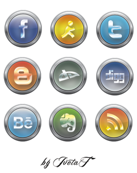 Social media icons vol. 2 by IvetaT