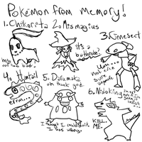 Pokemon from memory by Sparrow-Kaizu