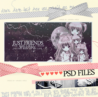 JUST FRIEND .. PSD FILE by Hanen-Madi