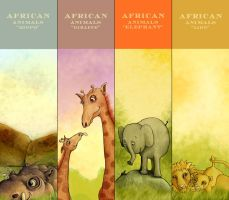 African Animals - Bookmarks by TinyPilot