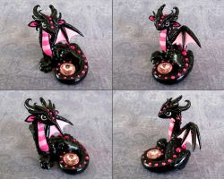 Black Valentine Dragon by DragonsAndBeasties