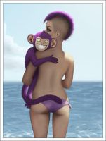 Purple Monkey for Aida by traumtaenzer