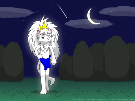 A king takes a stroll at night by MarwanGreenCritter