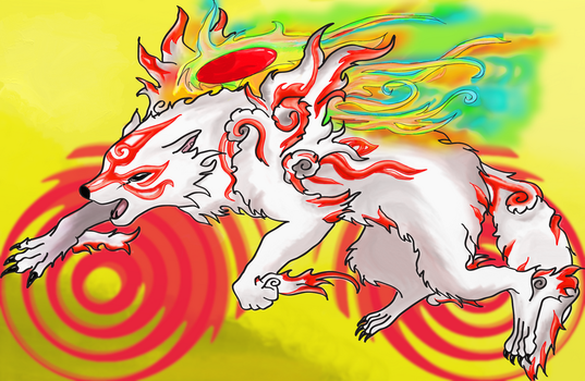 Okami I colored by Pa-ko